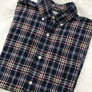 Carhartt Blue Plaid Short Sleeve Men's Shirt Sz L